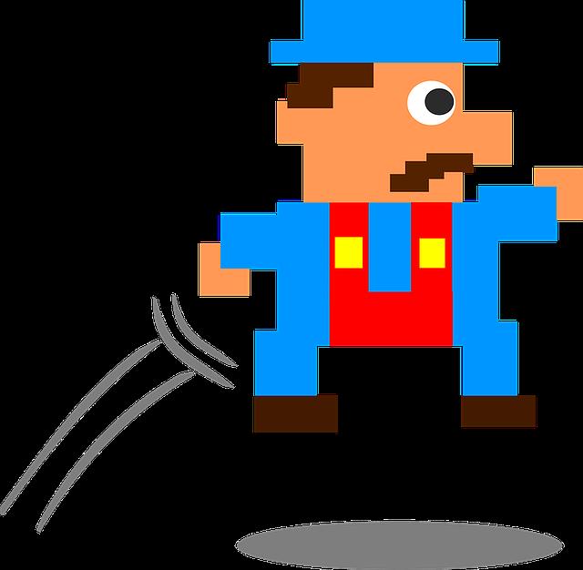postava z počítačové hry