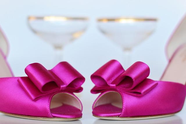 sytě růžové boty